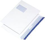 Briefumschlag C4, haftkebend, weiß, Offset 120g, 250 Stück mit Fenster