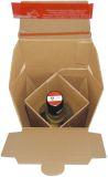 Flaschenkarton mit Selbstklebeverschluss - für 1 Flaschen