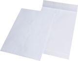 Faltentaschen C4, ohne Fenster, mit 20 mm-Falte, 120 g/qm, weiß, 100 Stück