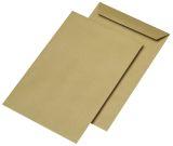 Versandtaschen C4 , ohne Fenster, gummiert, 90 g/qm, braun, 250 Stück