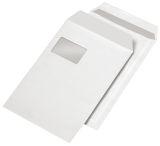 Versandtaschen C4, blickdicht, mit Fenster, haftklebend, 120 g/qm, weiß, 250 Stück