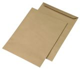 Versandtaschen E4, ohne Fenster, gummiert, 130 g/qm, braun, 250 Stück