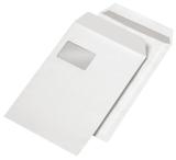 Versandtaschen C4 , m. Fenster, Inndendruck, selbstklebend, 100 g/qm, weiß, 250 Stück