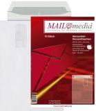 Versandtaschen B4, mit Adressfeldtasche, haftklebend, 120 g/qm, weiß, 10 Stück
