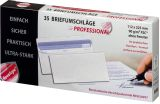 Briefumschlag - 112 x 225 mm, o. Fenster, weiß,  90 g/qm, Innendruck, Revelope-Klebung, 35 Stück