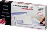 Briefumschlag - 112 x 225 mm, m. Fenster, weiß,  90 g/qm, Innendruck, Revelope-Klebung, 35 Stück