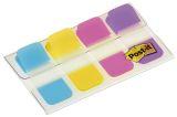 Haftstreifen Post-it® Index STRONG im Etui - 16x38mm, türkis, gelb, pink, lila, 4 x 10 Stück