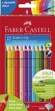 Buntstift Jumbo GRIP - 12 Farben sortiert und Spitzer, Kartonetui