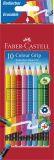 Buntstift Colour GRIP Radierbare - 10 Farben sortiert mit Radiergummi, Kartonetui