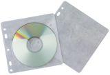 CD/DVD-Hüllen - Universallochung zur Ablage im Ordner/Ringbuch, transparent, Packung mit 40 Stück