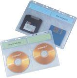 CD/DVD-Hüllen - Universallochung zur Ablage im Ordner/Ringbuch, transparent, Packung mit 10 Stück