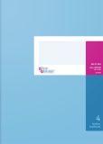 Spaltenbuch A4 in Kopfleisten-Ausführung - blauer Kartonumschlag, Schema über 1 Seite, 4 Spalten, 40 Blatt