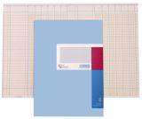 Spaltenbuch A4 in Kopfleisten-Ausführung - blauer Kartonumschlag, Schema über 1 Seite, 6 Spalten, 40 Blatt