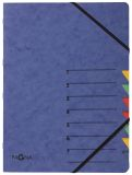 Ordnungsmappen EASY - mit 7 Fächern, blau