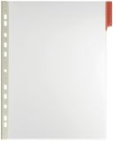 Sichttafel FUNCTION PANEL - Hartfolie, A4, rot, 5 Stück