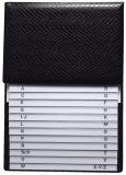Telefon-Klappregister, hochwertige Ausführung, schwarz, Maße (BxH): 160 x 230 mm