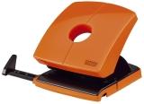 Locher (Büro) B230 - 30 Blatt, 4-fach Lochung, Anschlagschiene, orange