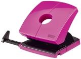 Locher (Büro) B230 - 30 Blatt, 4-fach Lochung, Anschlagschiene, pink