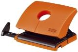Locher (Büro) B216 - 16 Blatt, 2-fach Lochung, Anschlagschiene, orange