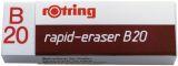 Radierer rapid-eraser B20, Polyvynilchlorid, 22 x 66 x 13 mm