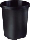 Großpapierkorb MOBIL XXL, 50 Liter, rund, extra stabil, schwarz