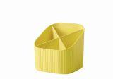 Schreibköcher Re-X-LOOP - 4 Fächer, gelb