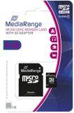 Micro SDHC Speicherkarte 4GB Klasse 10 mit SD-Karten Adapter