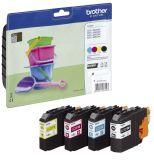 Brother® Inkjet-Druckpatronen schwarz, cyan, magenta, yellow, 4x 260 Seiten, LC221VALBPDR