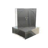 CD-Leerhülle. schmal. für 1 Disc. 5.2mm. maschinenfähig. schwarzes Tray