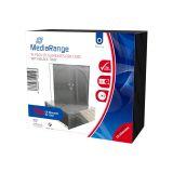 CD-Leerhülle. schmal. für 1 Disc. 5.2mm. schwarzes Tray. 10er Pack