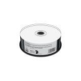 CD-R 700MB. 80min 52-fache Schreibgeschwindigkeit. vollflächig bedruckbar (Tintenstrahldrucker). schwarze Schreibseite. 25er Cakebox