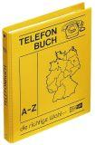 Telefonringbuch - DIN A5, gelb, inkl. Einlagen und 12-teiliges Register A-Z