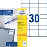 3489 Universal-Etiketten ultragrip - 70 x 29,7 mm, weiß, 3.000 Etiketten, permanent