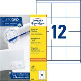 3661 Universal-Etiketten ultragrip - 70 x 67,7 mm, weiß, 1.200 Etiketten, permanent