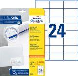 3490 Universal-Etiketten, 70 x 36 mm, Deutsche Post INTERNETMARKE, 30 Bogen/720 Etiketten, weiß