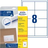 4782 Universal-Etiketten, 97 x 67,7 mm, Deutsche Post INTERNETMARKE, 30 Bogen/240 Etiketten, weiß