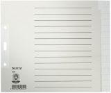 1224 Register - Tauenpapier, blanko, A4 Überbreite, 20 cm hoch, 15 Blatt, grau