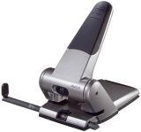 5180 Registraturlocher bis A3, 6,5 mm, mit Anschlagschiene, silber