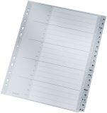 1260 Register - A - Z, PP, A4 Überbreite, 20 Blatt, grau