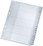 1265 Register - A - Z, PP, A5 Überbreite, 165 x 210 mm, 20 Blatt, grau