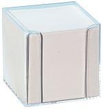 Notizboxen - glasklar, ca. 700 Blatt - weiß, lose