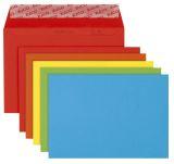 Briefumschlag Color - C6, Kleinpackung 20 Stück, 5 Farben sortiert, haftklebend