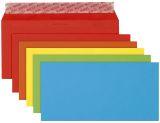 Briefumschlag Color - DL, Kleinpackung 20 Stück, 5 Farben sortiert, haftklebend