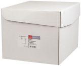 Faltentasche Office Box mit Deckel - C4, weiß, 20 mm Falte, haftklebend, ohne Fenster, 120 g/qm, 200 Stück