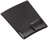 Handgelenkauflage mit Mauspad Health-V Crystal - 230 x 6 x 275 mm, schwarz