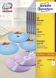 Inkjet+Laser+Kopier CD/DVD-Etiketten SuperSize