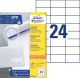 3474-200 Universal-Etiketten, 70 x 37 mm, 220 Bogen/5.280 Etiketten, weiß