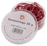 Gummiringe - Ø50 mm, Dose mit 25g, rot