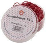 Gummiringe - Ø65 mm, Dose mit 25g, rot