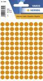 1844 Vielzwecketiketten orange Ø 8 mm rund Papier matt 540 St.